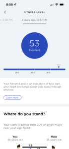 Improving Withings health may fitness score